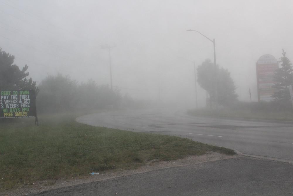 Barrie Ontario, foggy morning.