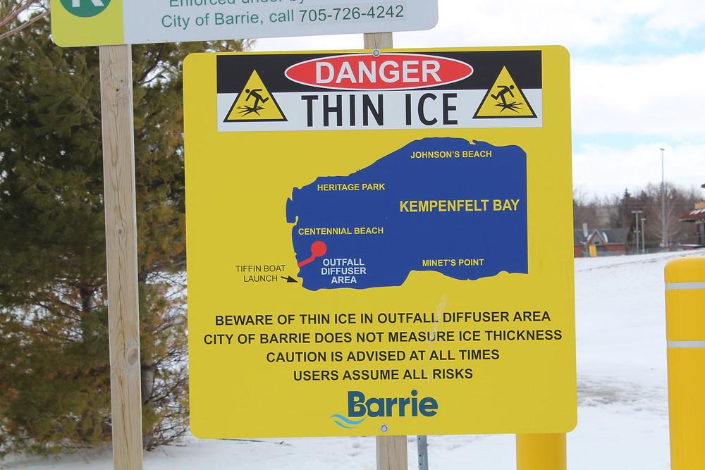 Barrie Ontario Thin Ice Warning