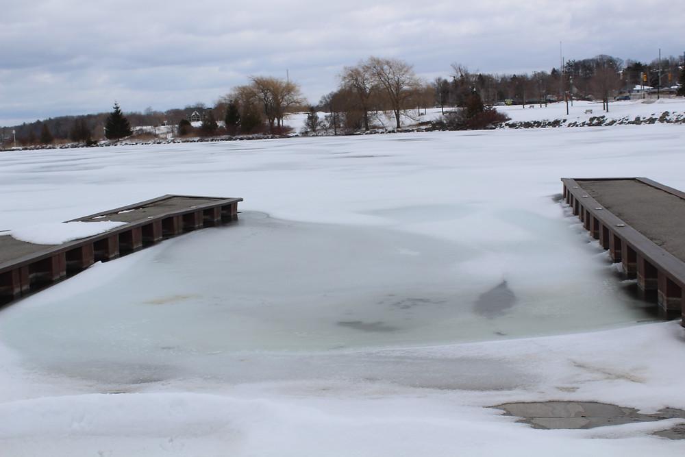 Barrie Boat Launch Frozen