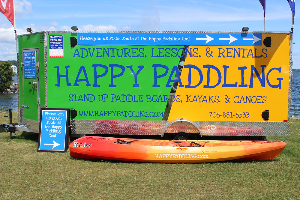 Happy Paddling in Barrie Ontario