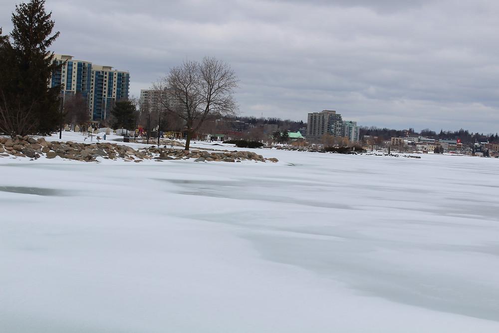 Barrie Waterfront Still Frozen