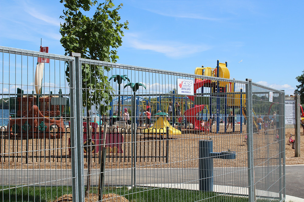 Playgrounds on Lakeshore Drive, Barrie Ontario