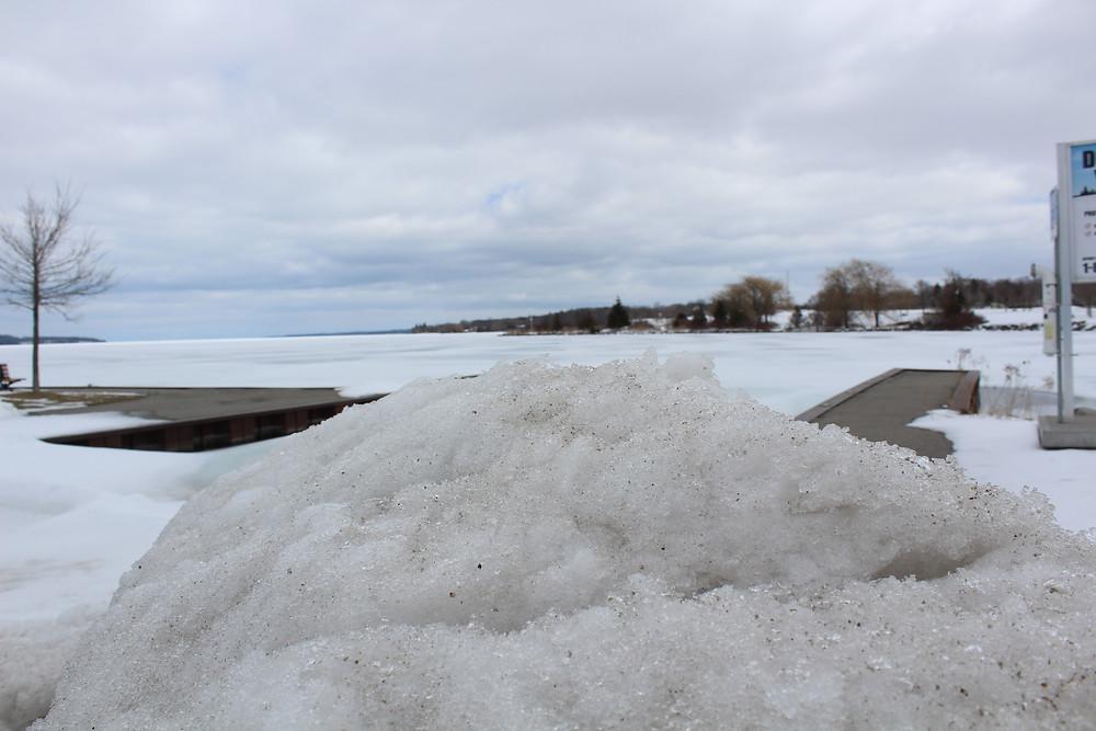 Barrie Ontario Frozen Boat Launch