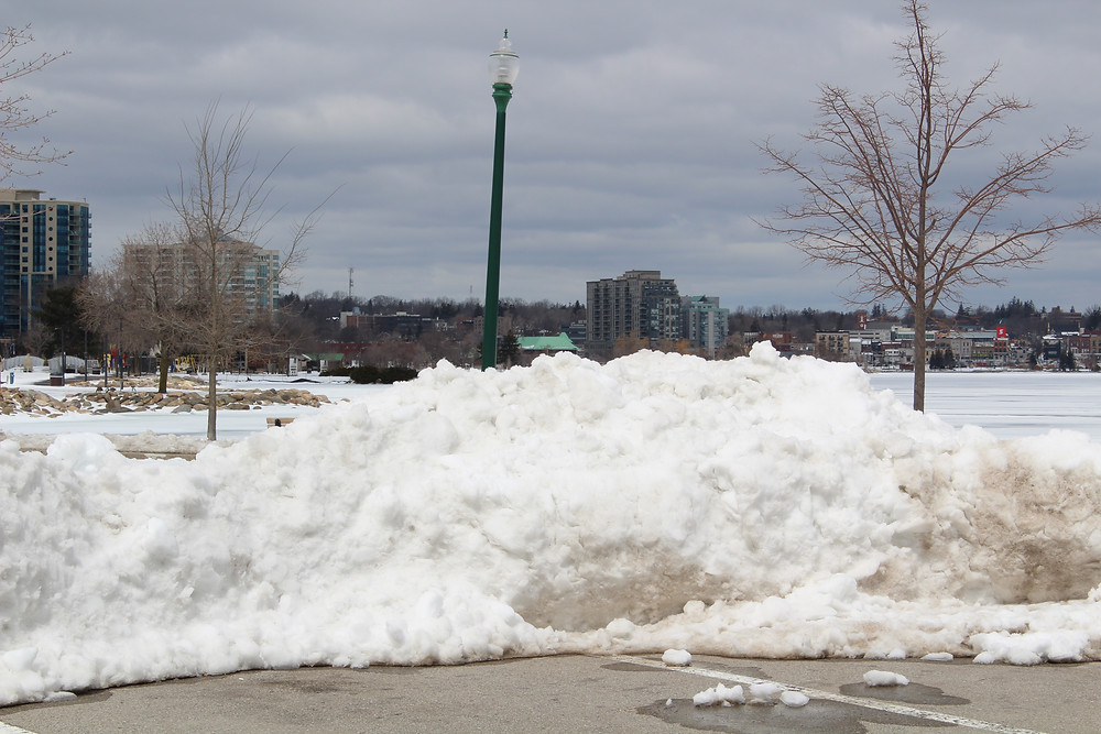 Barrie Ontario Typical Snow Filled Parking lot