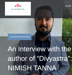 Author interview by blogger Mehak on pop
