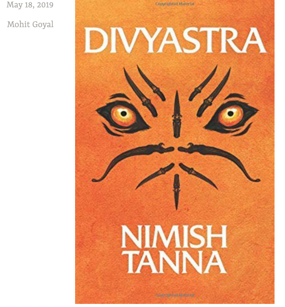 Book review of Divyastra by blogger Mohi
