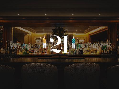 2 Perfect Manhattans at 21 Club