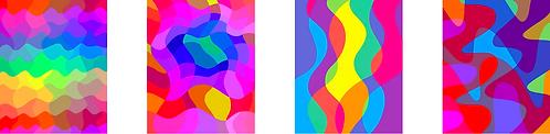 MOONLIGHT SHALLOW BROOK [4 prints series]