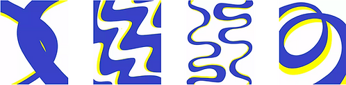 BLUE RIBBONS [4 prints series]