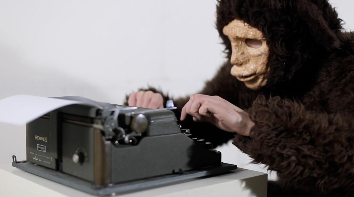 MONKEY TYPEWRITER THEOREM, video, 2013.