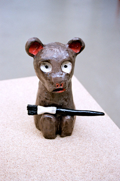 LE PEINTRE, glazed ceramic, 2006.