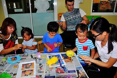 Busy TIS kids