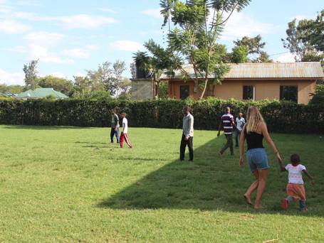 Legedag på skolens legeplads