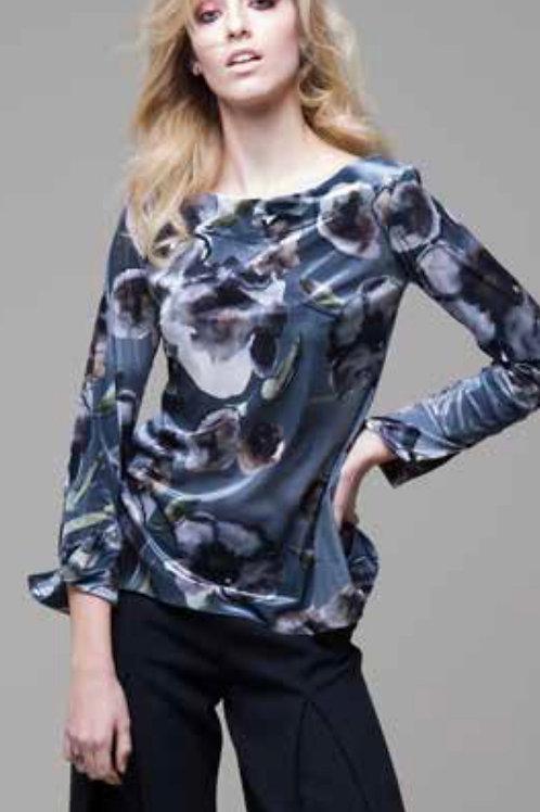 Blusa velluto stampato