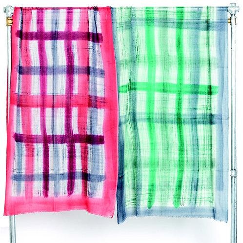 Stola 100 % lana  Cod N 55 (rosso ) N 54 (verde )