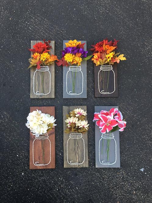 Mason Jar w/ Flowers