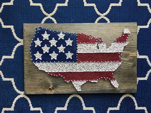 USA Flag inside USA
