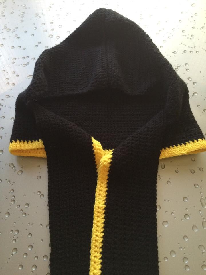 Black and Yellow Hoddie Scarf