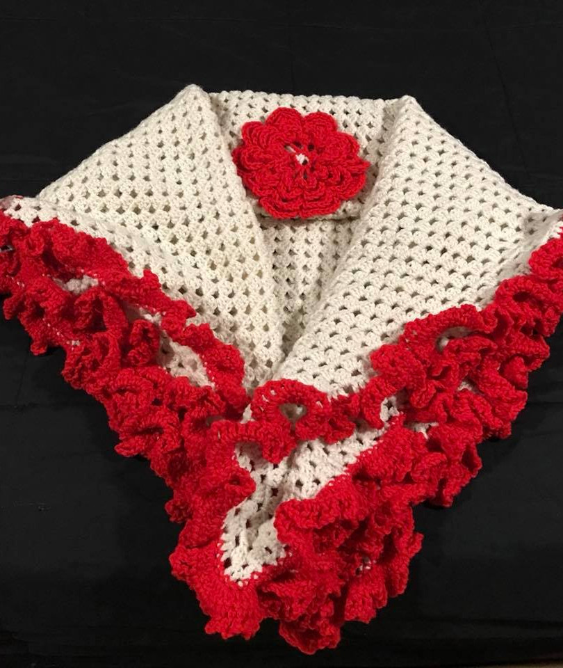 Red and White Baby Blanket
