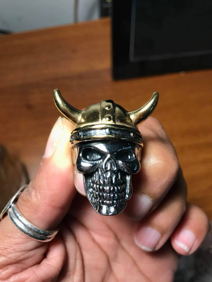 Gold and Silver Viking Ring