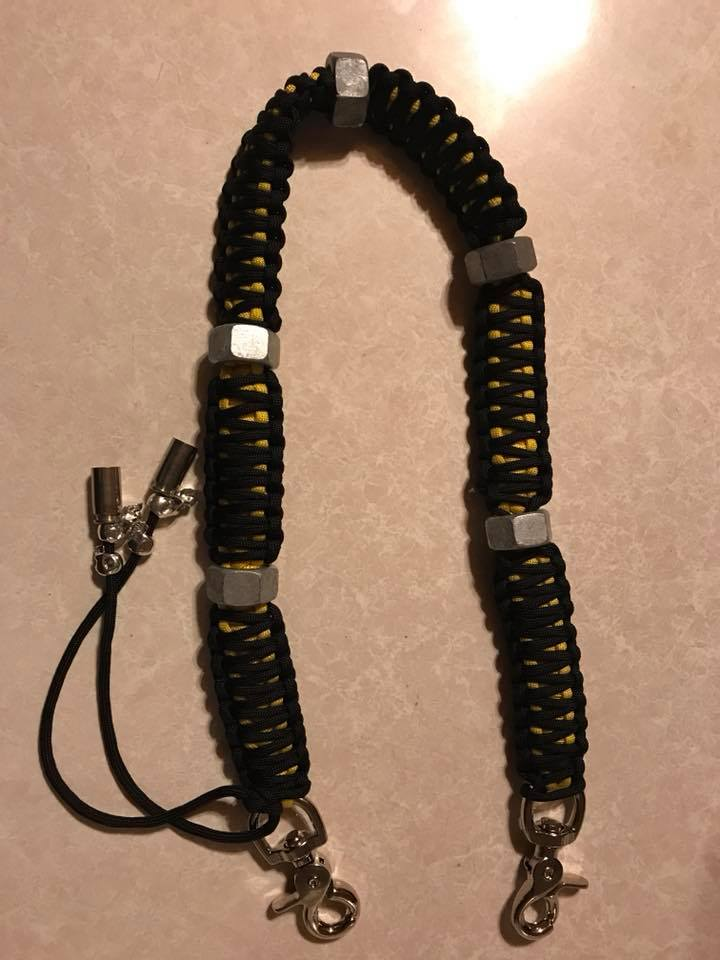 Black and Yellow Wallet Chain