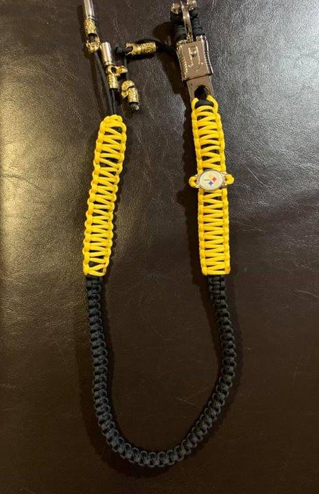 Custom Yellow and Black Whip