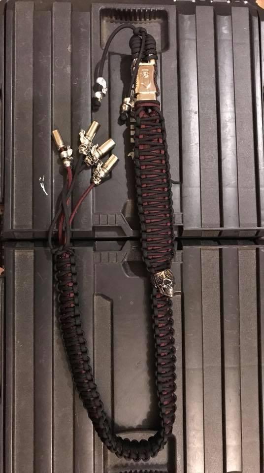 Custom Red and Black Bike Whip