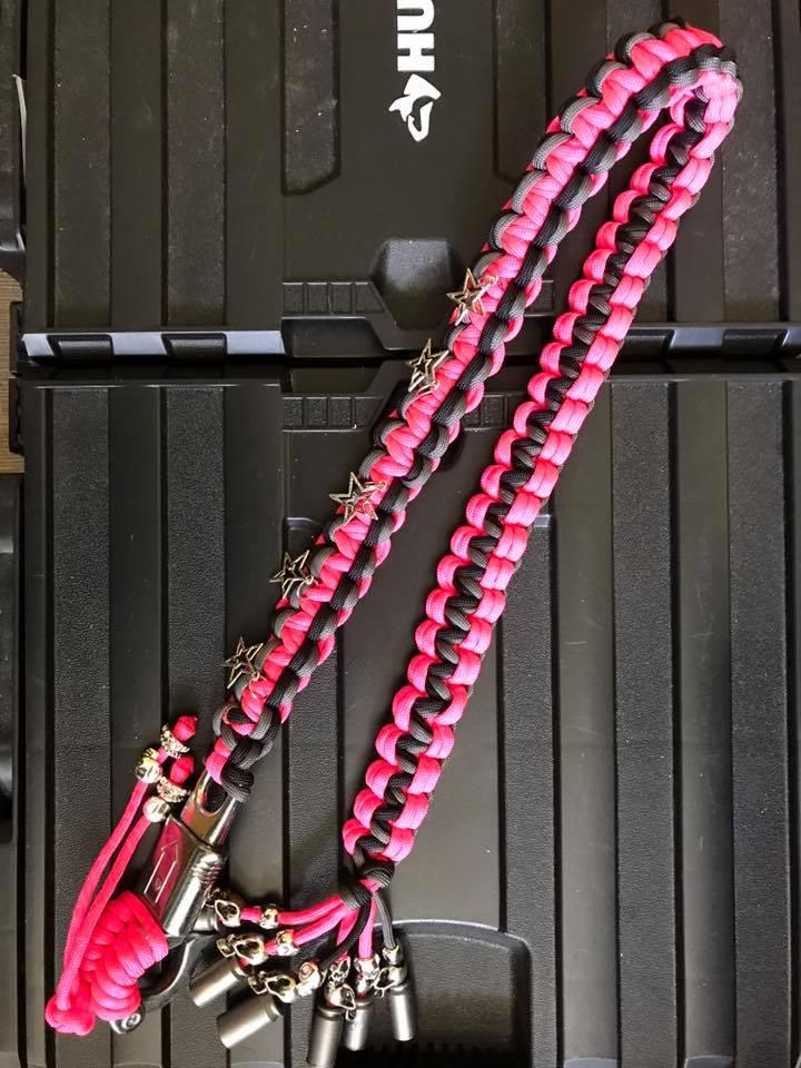 Custom Pink and Black Bike Whip