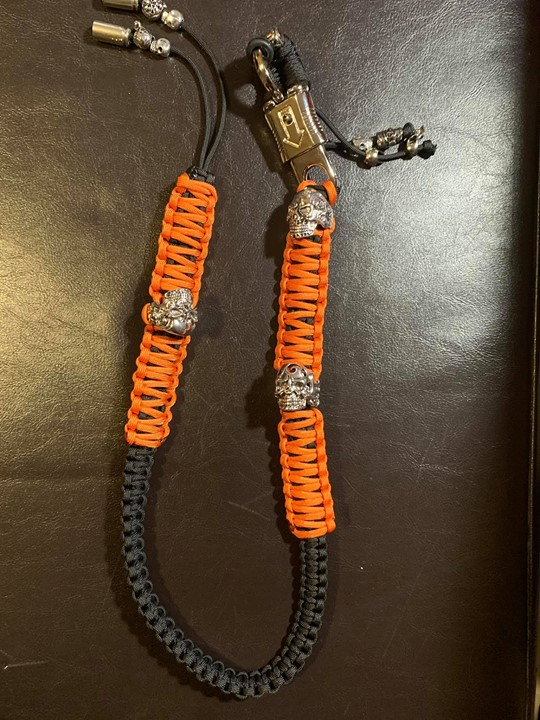 Custom Orange and Black Whip