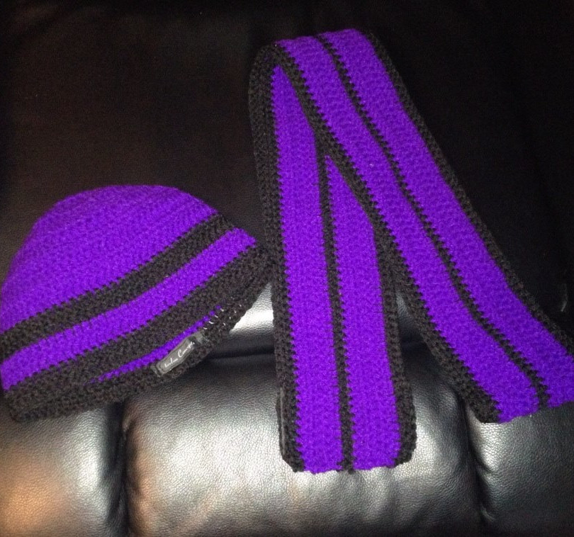 Crotchet Scarf and Hat