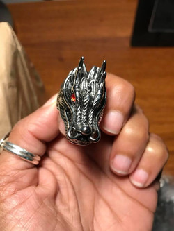 Wolf Ring with Red Eyes