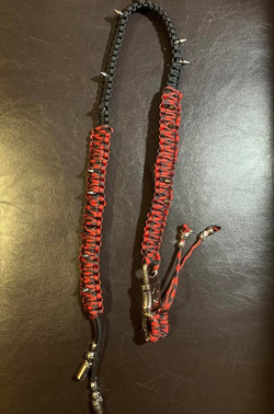 Custom Red and Black Whip