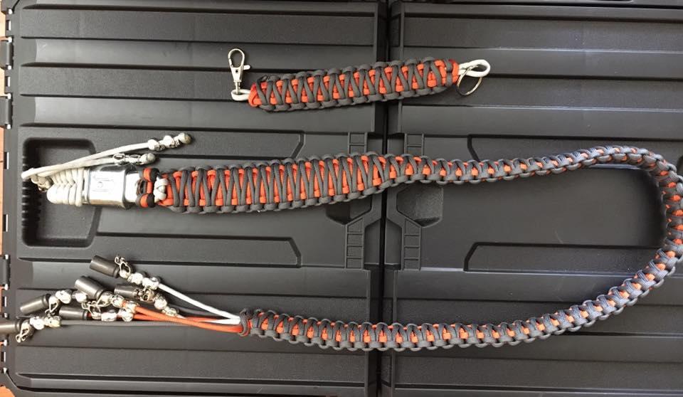Custom Orange and Charcoal Bike Whip