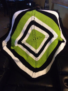 Green, Black and White Baby Blanket