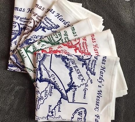 Thomas Hardy's Wessex Map Cotton Tea Towel