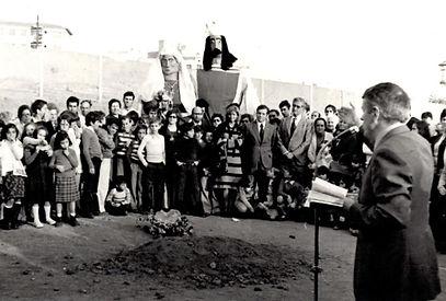 Ubicación de la primera piedra de la parroquia de sant pau del barrio del Palau Mataró