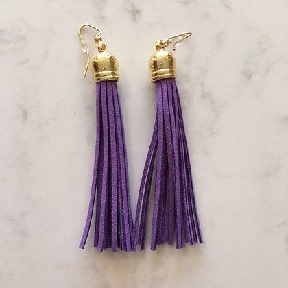 Purple Tassel Earring