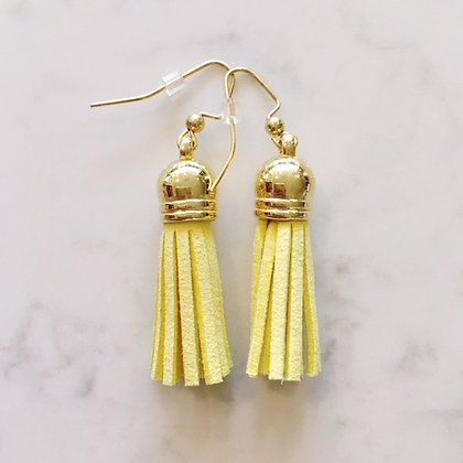 Yellow Short Tassel Earring