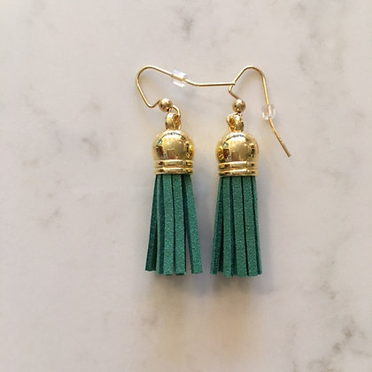True Green Short Tassel Earring