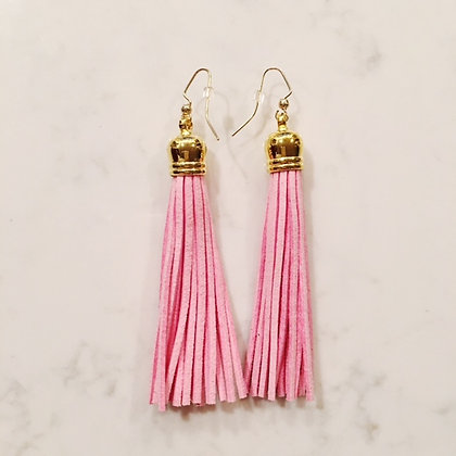 Light Pink Tassel Earring