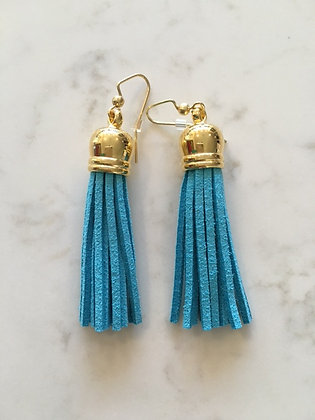 Tuquoise Medium Tassel Earring