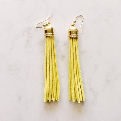 Yellow Tassel Earring
