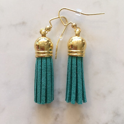 Green Short Tassel Earring