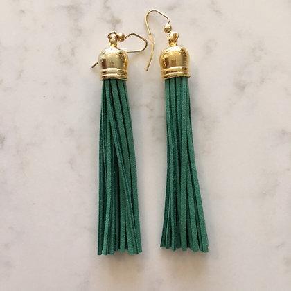 True Green Tassel Earring