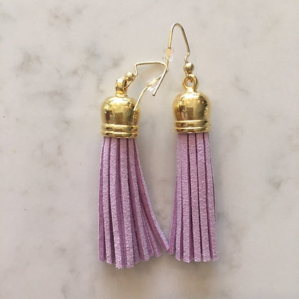 Lavender Medium Tassel Earring