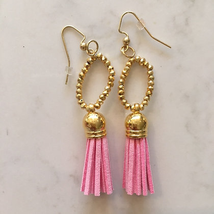Light Pink Circle Earring