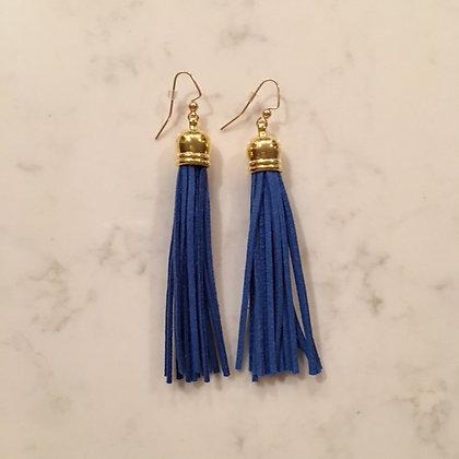 Blue Tassel Earring