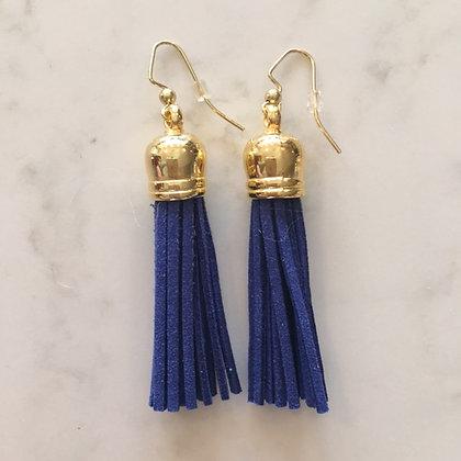 Cobalt Blue Medium Tassel Earring