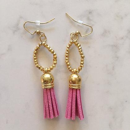 Rosey Pink Circle Earring