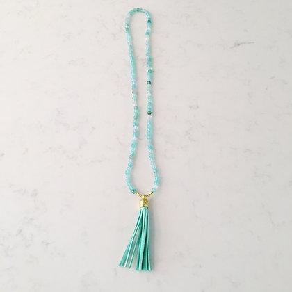 Mint Multi Tassel Necklace